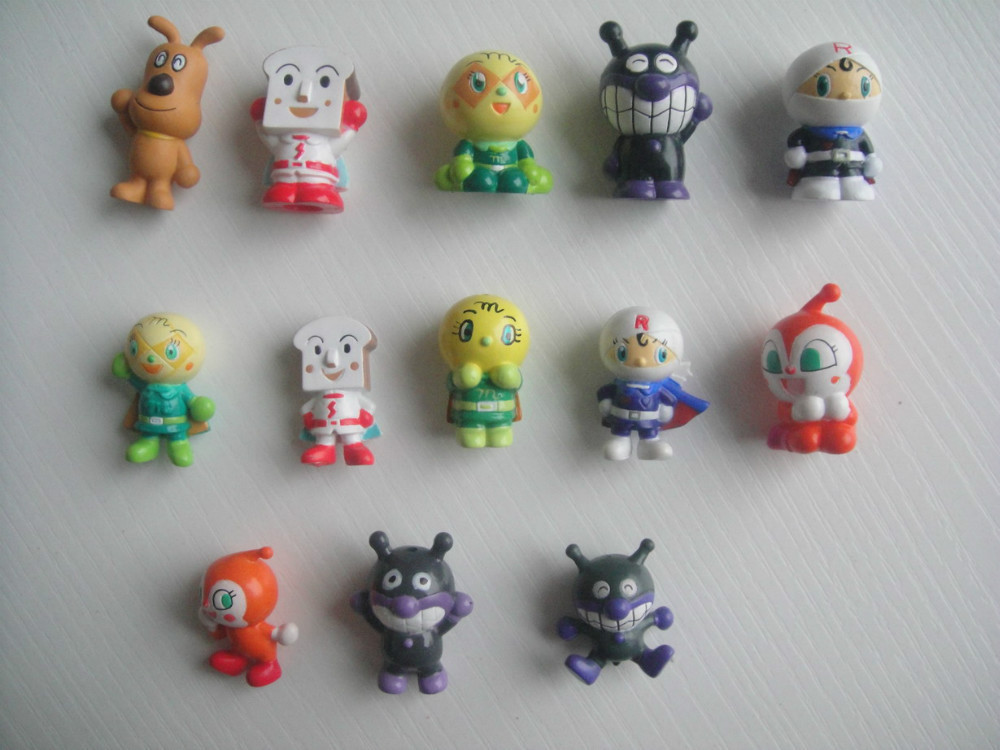 Kids Toys Action Figure: 50pcs/lot Anpanman Puppet 3CM, Kids Toy Figuras Anime