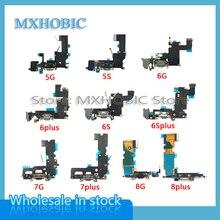 10 teile/los Lade Flex Kabel für iPhone 6 6S 7 8 Plus X XS Max XR 5 5S 5c SE Dock Connector USB Ladegerät Port Band
