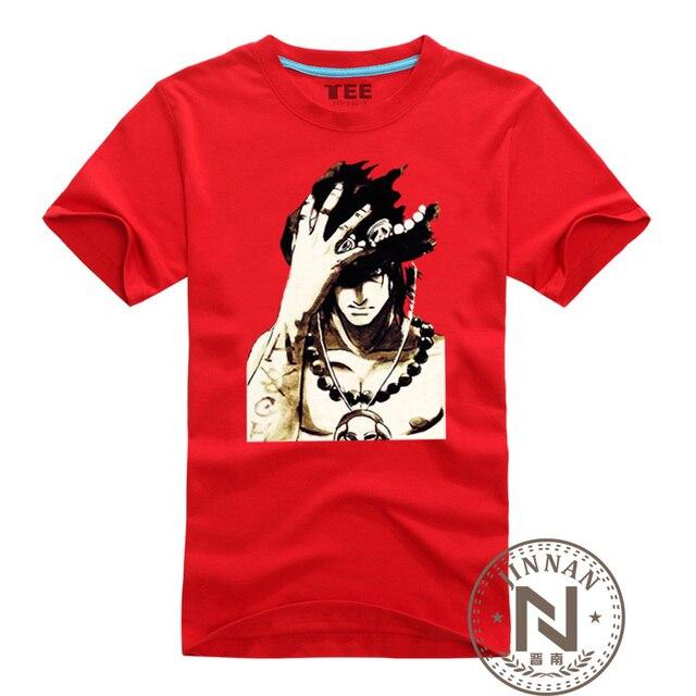 Одна часть одежды Portgas D Ace футболка мужчины мальчик хлопка футболку аниме луффи Tshirt своих кулак