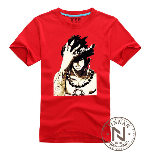 11b9b496ab66 One Piece Clothes Portgas D Ace T Shirt Men Boy Cotton T-Shirt Anime Luffy