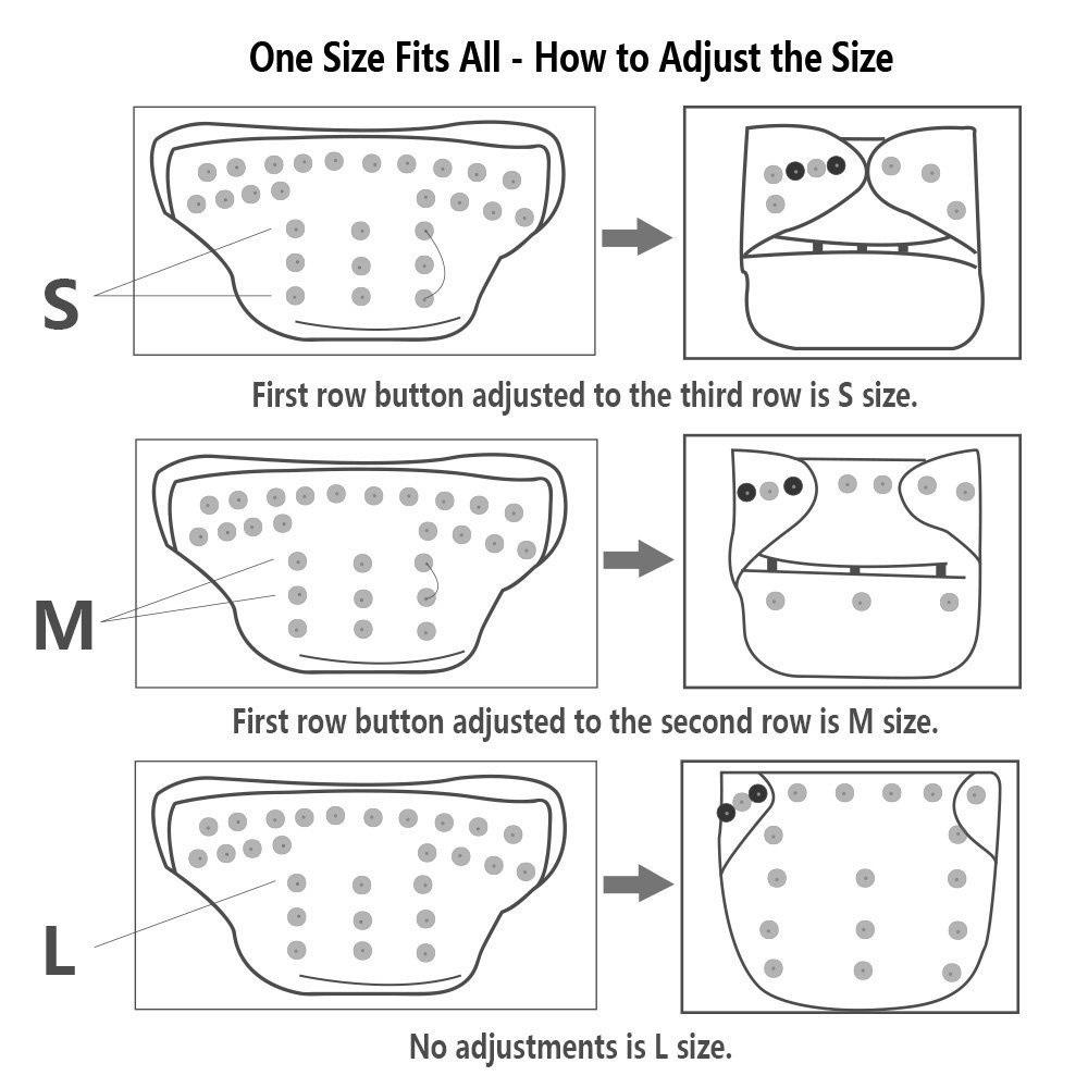 reglage differentes tailles des couches lavables - 365reusable