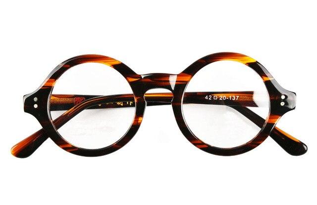 bf8a7f0447 40mm - 61mm HANDMADE Vintage Round Glasses Tortoise Optical Eyeglasses  Frames Rx