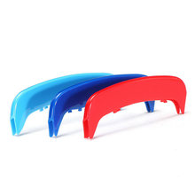 3pcs Car ABS Front Grilles Trim Strips Cover For BMW E46 2002 2003 2004 3-Color Auto Front Grille Bar Cover Stripe Sticker Decal(China)