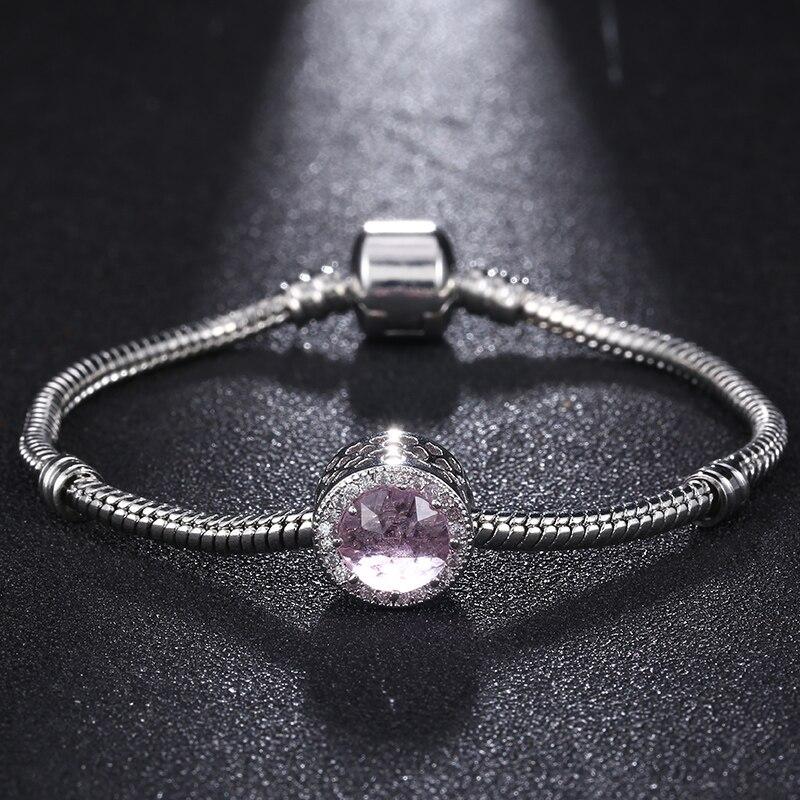 High Quality 17-22cm Platinum Plated Wholesale Snake Chain Magnet Clasp Bracelets Fit Diy Bead Pan Bracelets Bijoux Pulsera