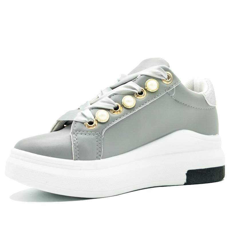 2018 Mode Lente Dames Platform Sneakers Zachte Riband Bling - Damesschoenen - Foto 2
