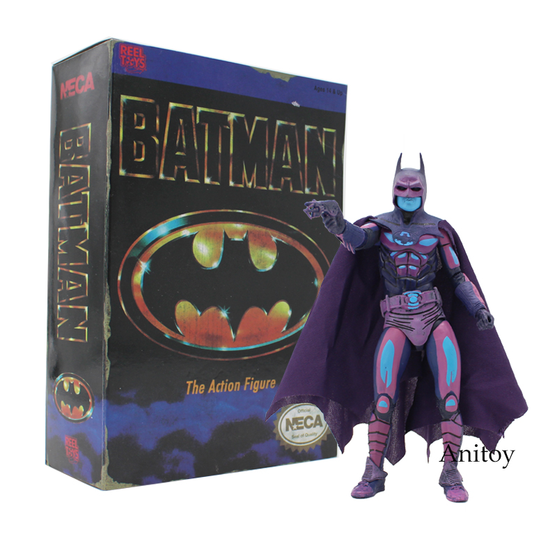 NECA Batman Classic Video Game Appearance PVC Action Figure Collectible Model Toy 17.5cm neca dc comics batman arkham origins super hero 1 4 scale action figure