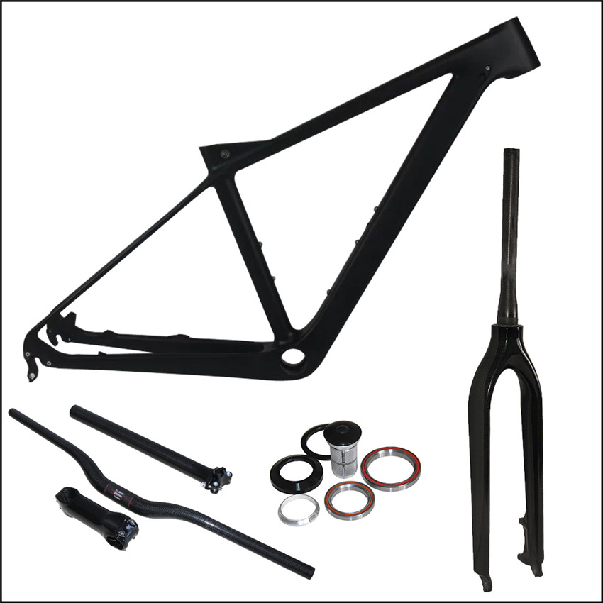 650B Mountain Bike Carbon Frame,27.5er Full Carbon MTB Bicycle Frame with Fork/Handlebar/Stem/Seatpost Complete Sets Free Ship fouriers mtb handlebar hb mb008 mountain bicycle handlebar ud carbon fiber bike handlebars 31 8x750mm