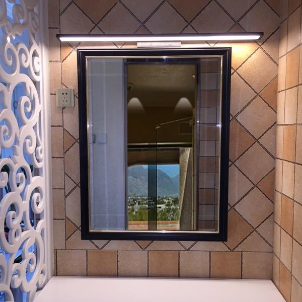 bedroom bathroom black lamp lights Mirror front light LED wall lamps ...
