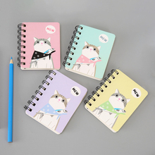 Kawaii Ring Notebook Cartoon Cat Cactus Pattern Notepad A7 Memo Pad for School Supplies Creative Booklets Office Stationery Gift 80 sheets cute cartoon pet notebook creative cat crocodile notepad kawaii christmas gift office school daily memos notebook