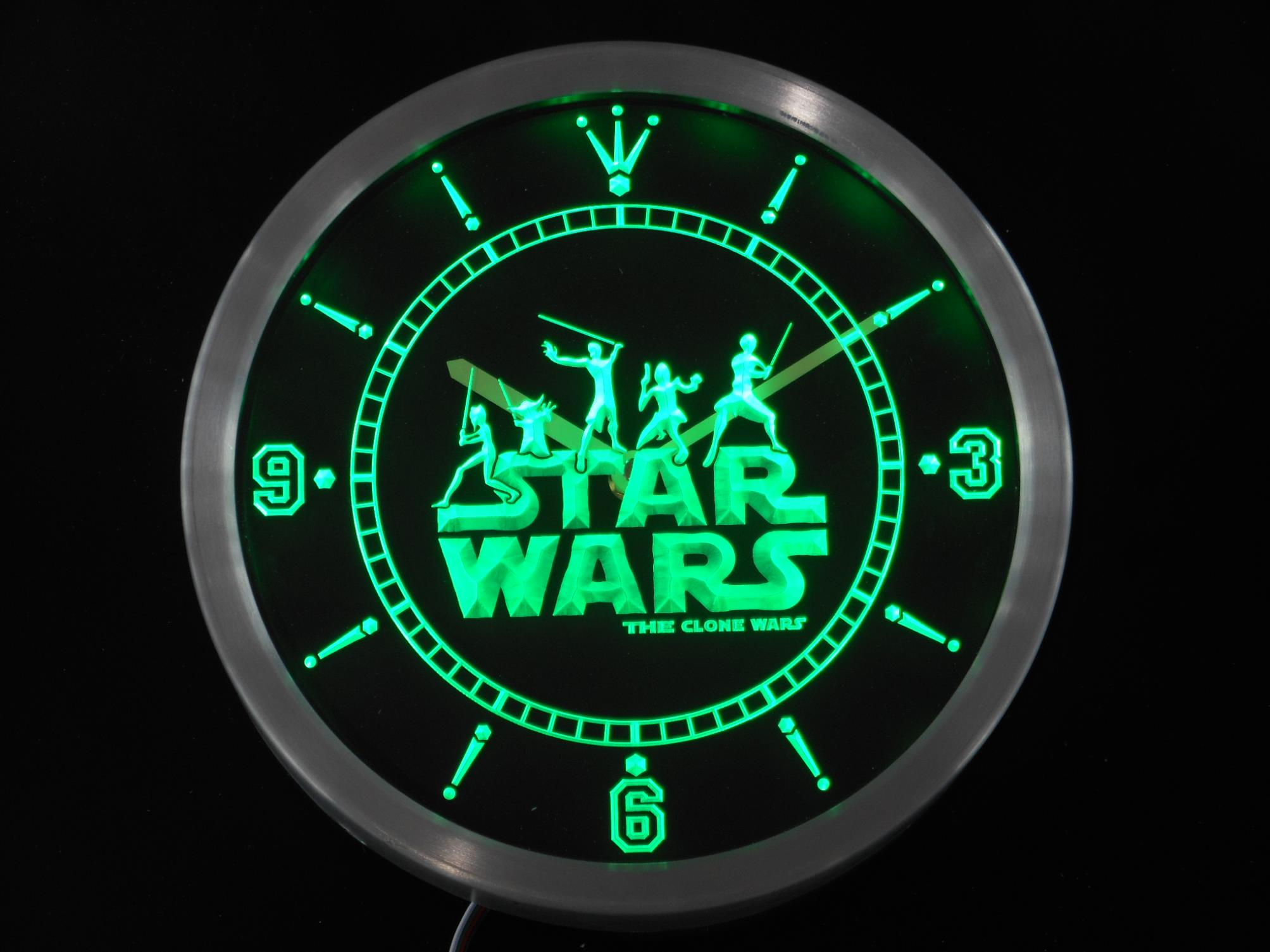 Nc0218 star wars the clone wars jedi neon sign led wall for Decoration murale neon