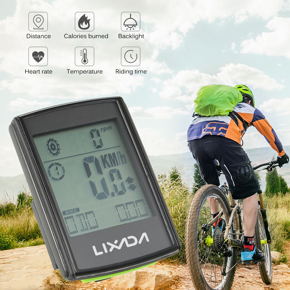 Image 2 - Lixada Multifunctional 3 in 1 Wireless LCD Bicycle Cycling Computer with Cadence Heart Rate Monitor Chest Strap for ciclismo-in Bicycle Computer from Sports & Entertainment
