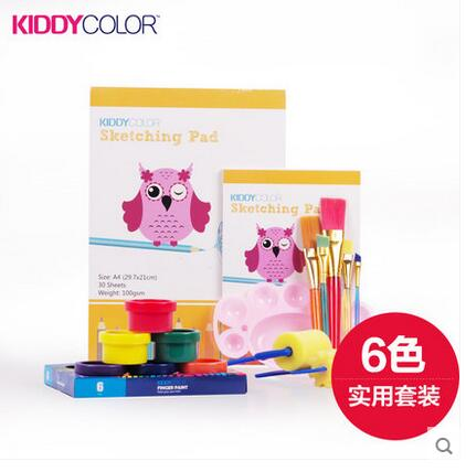 children 's finger paints  watercolor DIY non - toxic washable painting pigment paint set graffiti  environmental handprint 8004 12 in 1 kid s bathing non toxic vinyl squeaky toys set multicolored