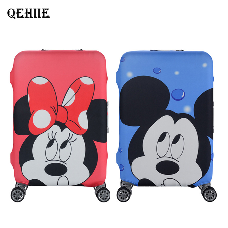 Travel Elastic Luggage Cover Suitable For 19-32 Inch Suitcase Protective Covers Cartoon Pattern Dust Cover Travel Accessories