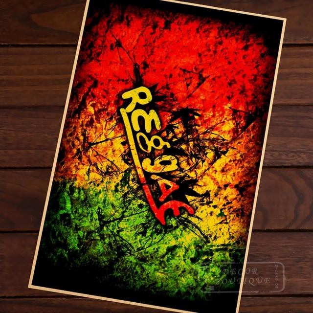 Jamaican Reggae Style Music Classic Art Beauty Flag Vintage Retro