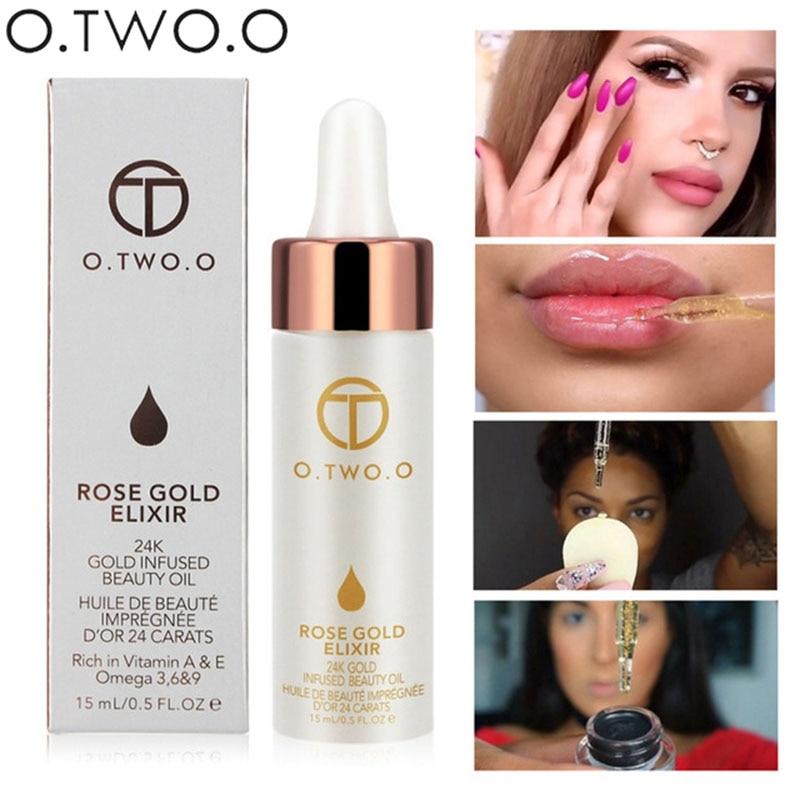 O. Dwóch. O marka podkład twarzy usta makijaż nawilżający łatwe do wchłonięcia złota 24K olejek różany baza twarzy podkład do makijażu 1