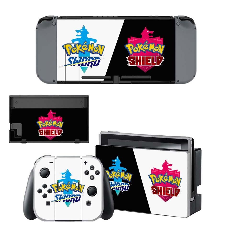 Autocollants vinyle Nintendo Switch Pokémon Épée Bouclier