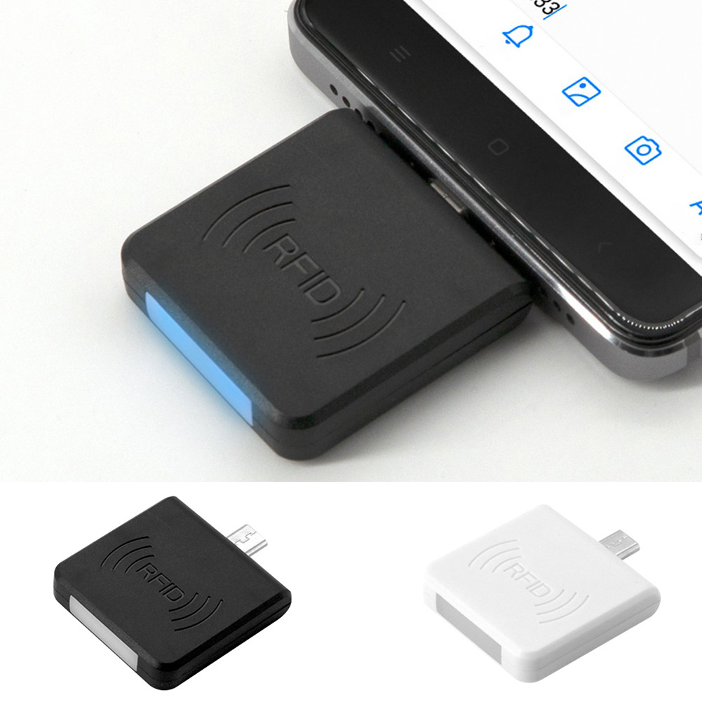 Portable Mini NFC Reader Micro USB Interface NFC IC Card Mini RFID Reader UID Adaptible For Android Linux Windows RFID Proximity