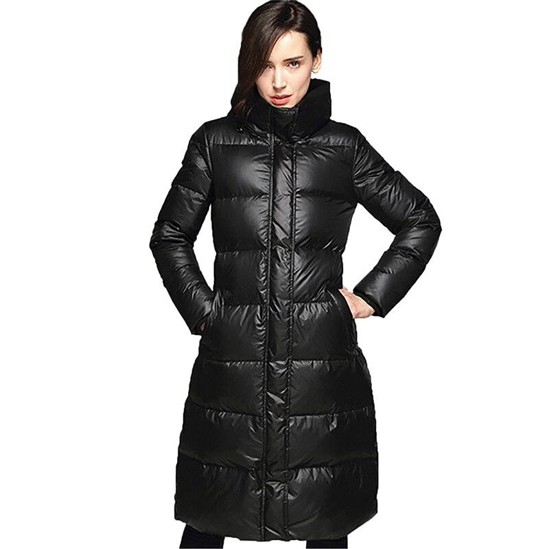 Winter   Down     Coat   90% Whiter Duck   Down   Women Jacket 2017 New Women's Fashion Slim Europe High-end Long   Down     Coats   Parka YP0704