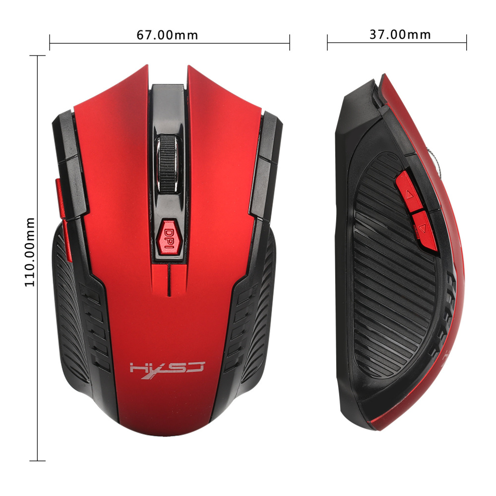 Image 5 - HXSJ X20 2.4G Wireless Mouse Mice 6D Gaming Optical Mouse Computer Mouse with 2400DPI for Desktop Laptop PC Pro Gamer-in Mice from Computer & Office