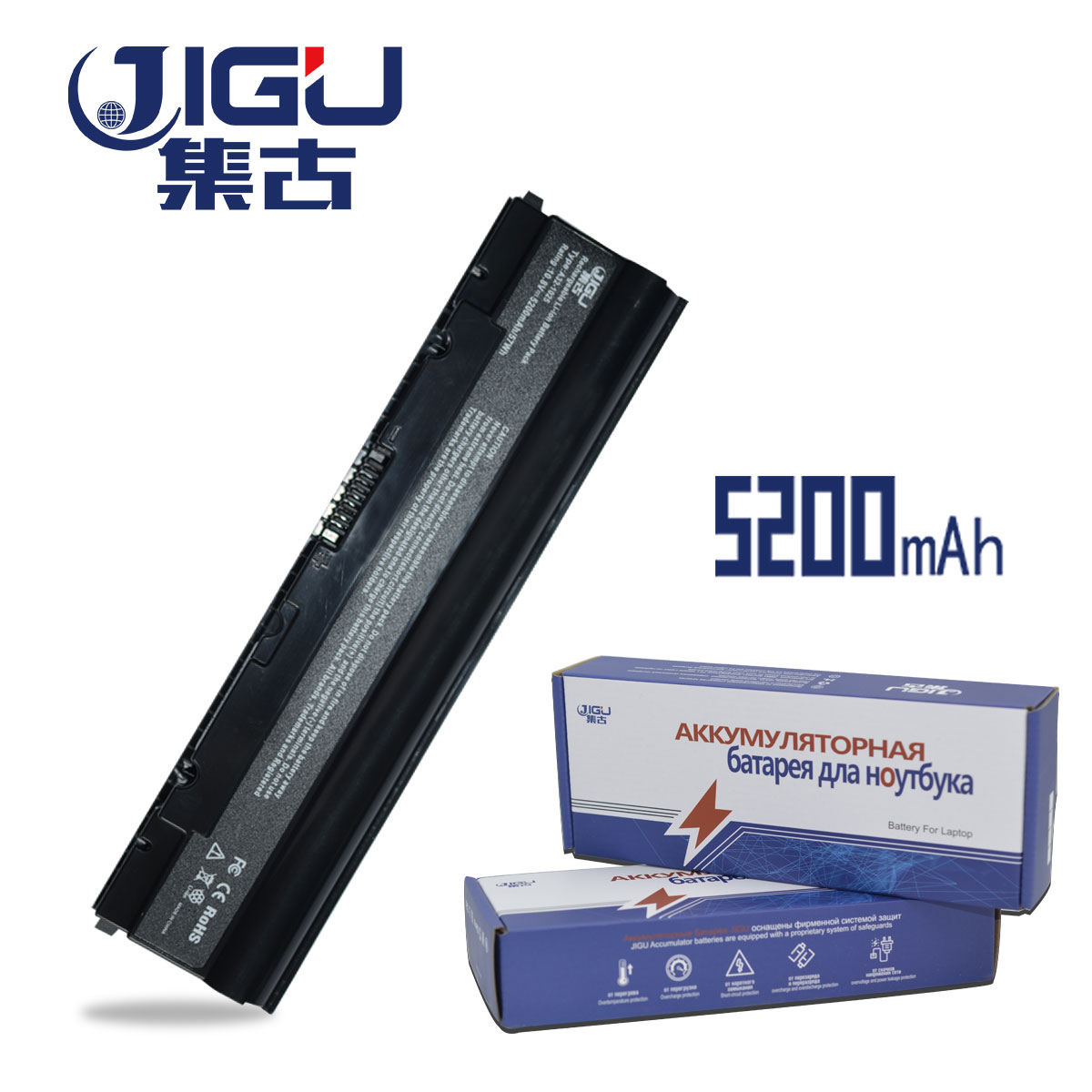 JIGU 5200MAH Laptop Battery A31-1025 A32-1025 For Asus For Eee PC 1025 1025C 1025CE 1225 1215 1225B 1225C R052 R052C R052CE