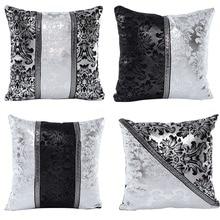 vintage black silver throw pillow case cushion cover sofa home car decorchina - Popular Throw Pillows