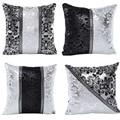 Vintage Black Silver Throw Pillow Case Cushion Cover Sofa Home Car Decor