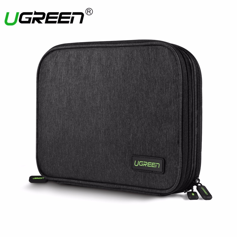 Ugreen Large Capacity External Storage for Power Bank Charger HDD SSD iPad Mini Nintend Switch Console Travel Bag Hard Disk Case