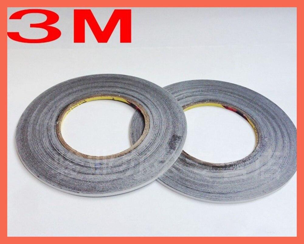 (2mm * 50 m), ruban adhésif, Film Original 3 M 9448 noir Double face ruban adhésif largeur utilisation pour bâton téléphone portable LCD tactile verre