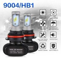 NICECNC 2x 9004 HB1 LED Head Lamp Car LED Fog Light 50W Kit 6000K Pure White