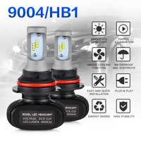 NICECNC 2x 9004 HB1 LED Head Lamp Car LED Fog Light 50W Kit 6000K Pure White
