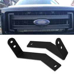 30 inches Single Row LED Light Bar Front Lower Hidden Bumper Grille Insert Mounting Bracket Fits 2009-2014 Ford F-150 Pickup