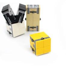 2 шт/лот infinity cube 64 шт сборные строительные блоки кубики