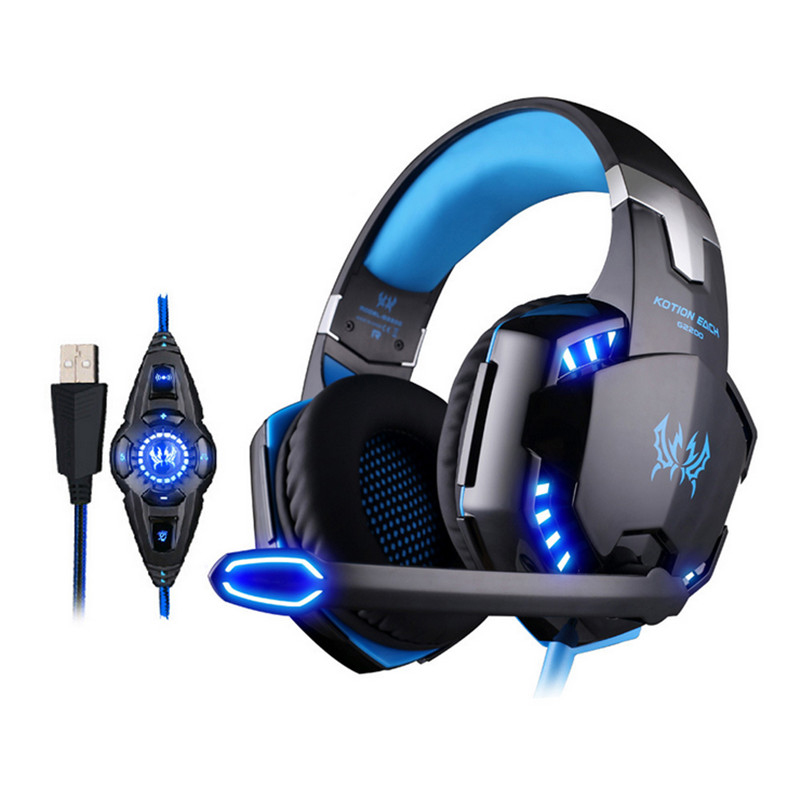 KOTION EACH G2200 USB 7.1 Surround Sound Headphone Vibration Computer Gaming Headset Earphone Headband With Mic For PC LOL Game kotion each g9000 7 1 surround sound gaming headphone game stereo headset with mic led light headband for ps4 pc tablet phone