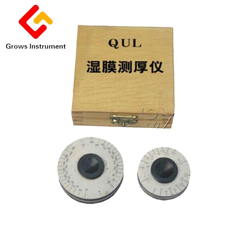 Здесь можно купить  QUL wet film thickness gauge wet film (wheel gauge) thickness gauge 0-100um 0-150um wet film thickness measuring instrument  Инструменты