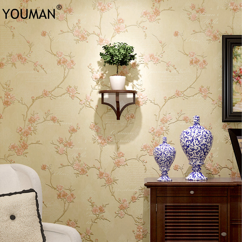 3d Rural Floral Antique Wallpaper 3D Embossed Flower Wall Covering Wall Paper Living Room Bedroom Decoration TV Sofa Background giraffe 3d wall stickers living room decoration