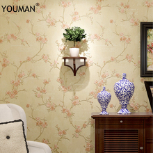 цена на 3d Rural Floral Antique Wallpaper 3D Embossed Flower Wall Covering Wall Paper Living Room Bedroom Decoration TV Sofa Background