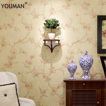 3d Rural Floral Antique Wallpaper 3D Embossed Flower Wall Covering Wall Paper Living Room Bedroom Decoration TV Sofa Background
