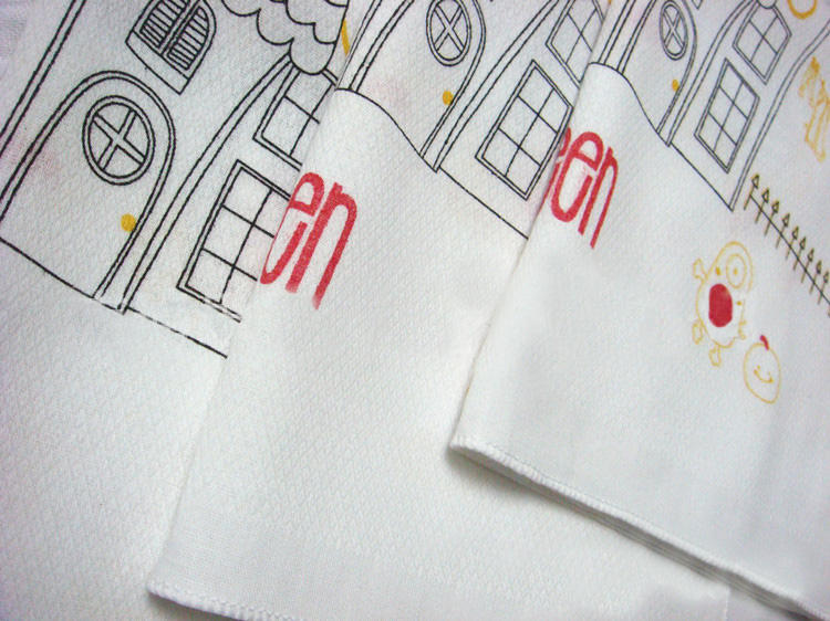 Korea Baby saliva towels handkerchief cotton 100 castle printed 35cm Many Uses in Handkerchief Towels from Home Garden