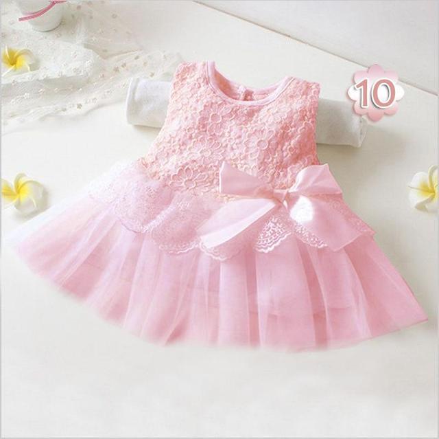 Caliente nueva infant baby girl tutu dress vestidos lindos de los niños flor del cordón de la princesa del partido del verano vestidos del bebé ropa de navidad