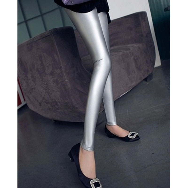 Sexy Women High Elasticity Pu Faux Leather Gothic Pants Push Up Hip Shiny Pencil Pants Sexy leggings Hot Pants Capris 52
