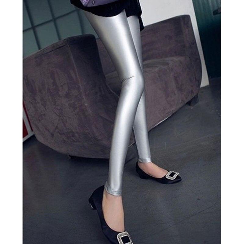 Sexy Women High Elasticity Pu Faux Leather Gothic   Pants   Push Up Hip Shiny Pencil   Pants   Sexy leggings Hot   Pants     Capris   52