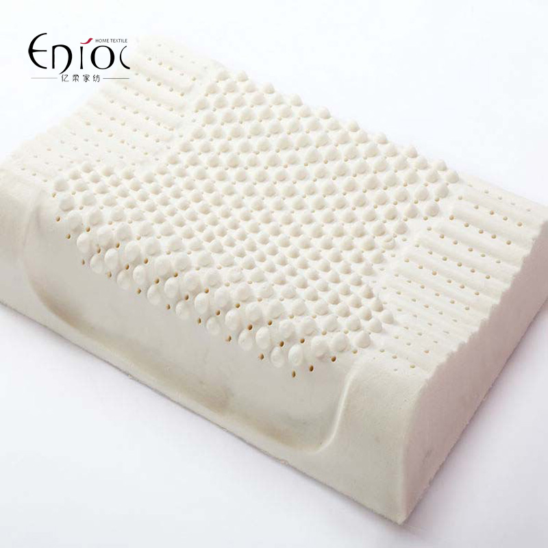 high quality contour massage natural latex pillow for adult with velvet outer cervical health 60