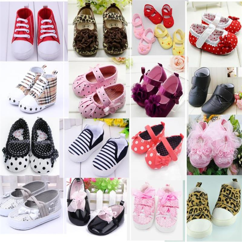 Cute Baby Girl Boy First Walkers Småbørn Sko Støvler Multi-Color Dot Bow Børns Sko Soft Sole Shoe Girls Warm
