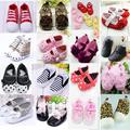 Cute Baby Girl Boy First Walkers Toddler Shoes Boots Multi-color Dot Bow Children's Shoes Soft Sole Shoe Girls Warm