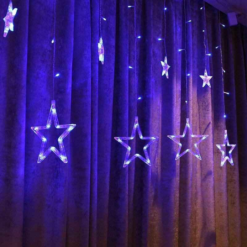 Högkvalitativ 110V / 220V Romantisk LED String Star Gardin Ljus Jul - Festlig belysning - Foto 5