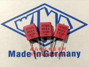 2019 hot sale 10pcs/20pcs Germany WIMA MKS4 1.0UF 1UF 100V 105 100V P: 7.5mm Audio capacitor free shipping цена 2017