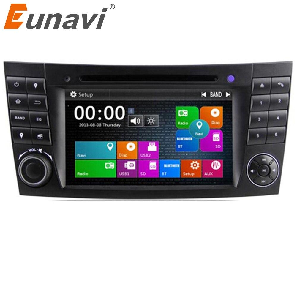 Eunavi 2 Din Car DVD Radio Player GPS navigation for Mercedes/Benz W211 W219 W463 CLS350 CLS500 CLS55 E200 E220 E240 E270 E280Car Multimedia Player   -