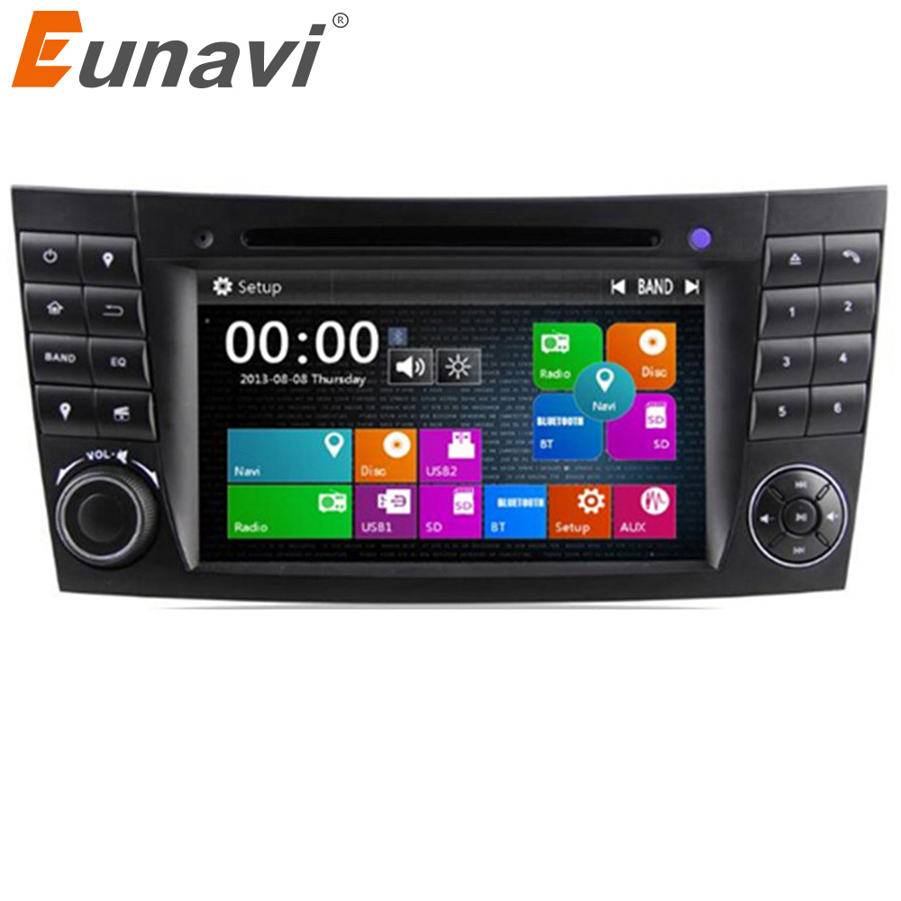 Eunavi 2 Din Car DVD Radio Player <font><b>GPS</b></font> navigation for <font><b>Mercedes</b></font>/Benz <font><b>W211</b></font> W219 W463 CLS350 CLS500 CLS55 E200 E220 E240 E270 E280 image