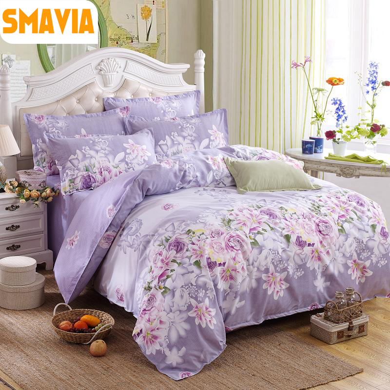 smavia hot sale home textile 4pcs bedding sets size twin double full queen king home hotel bed. Black Bedroom Furniture Sets. Home Design Ideas