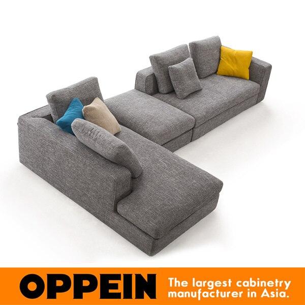 Modern Fabric Sectional Sofa In Maize Yellow Corner Ws Tm160001